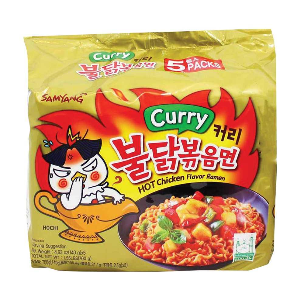 三養辣咖喱雞味撈麵(5包裝)